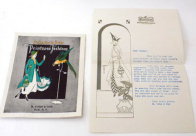 1915 Brochure & Letterhead Ladies' Coats by Printzess Printz Biederman Cleveland