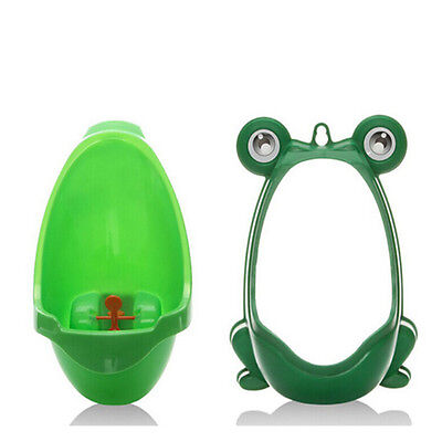 Cute Frog Potty Training Urinal for Boys with Funny Whirling Target Green Newest