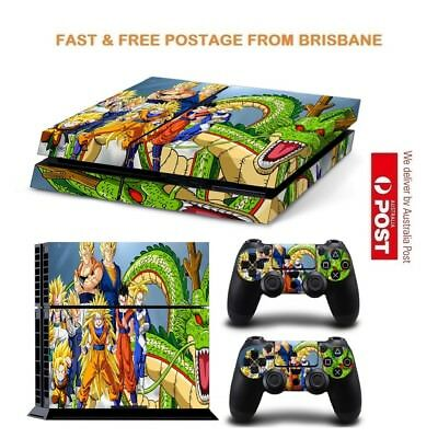 Dragon Ball PS4 Playstation 4 Console Controller Decal Skin Sticker NEW