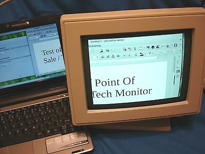 """Ncr Point-Of-Sale 9"""" Monitor Svga Grayscale Great For Techs, Checkout, Spare"""