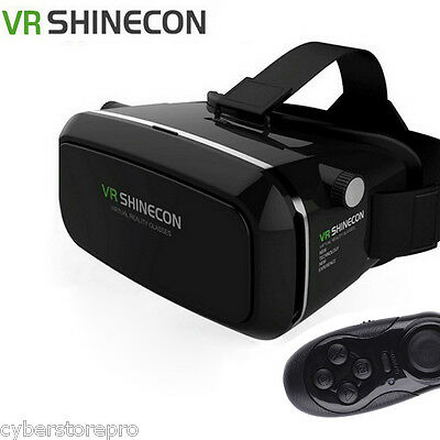VR SHINECON 3D Virtual Reality Head-Mounted 3D Video Glasses Remote Controller