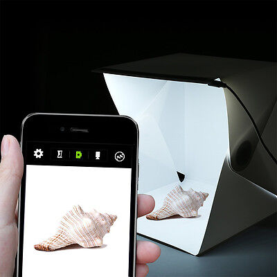 Mini Photo Studio Box Portable Foldable Photography Box with built-in Light whit