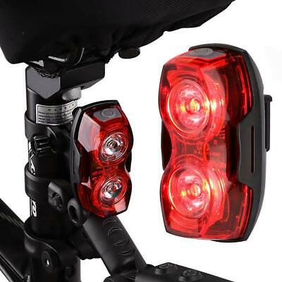 2 LED Bike Light Battery Powered Rear Tail Light Super Bright 3 DUO Waterproof