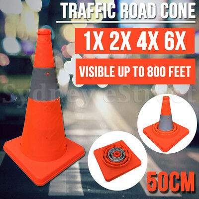 50CM Folding Traffic Road Cone Reflective Tape Warning Sign Safety Witches Hat
