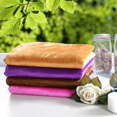 4 Colors Beauty Short Plush Salon Sheet SPA Treatment Bed Cover Sheet With Hole