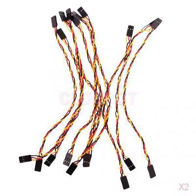 2x 10 Pcs 3P F/F Jumper Wire 20cm Female to Female Cable Wire for Arduino Accs