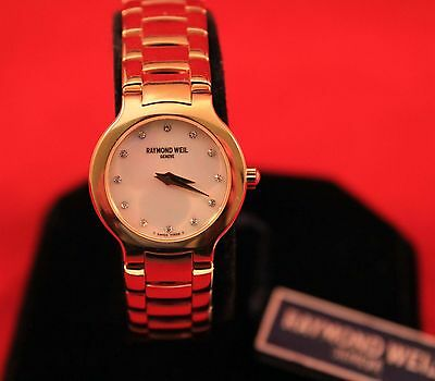 NEW Ladies RAYMOND WEIL Chorus 18K Gold Plated MOP