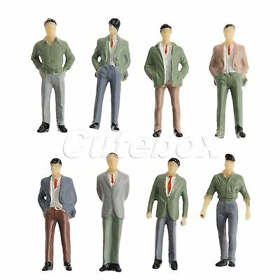 Great Collectible Plastic Model Train 1:50 People Figures 10pcs Layout Diorama