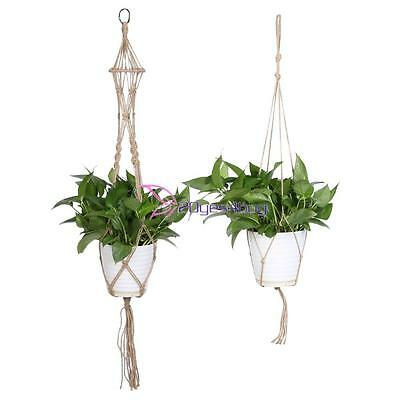 New Macrame Plant Hanger Flowerpot Holder Gardenpot Vintage Knotted Lifting Rope