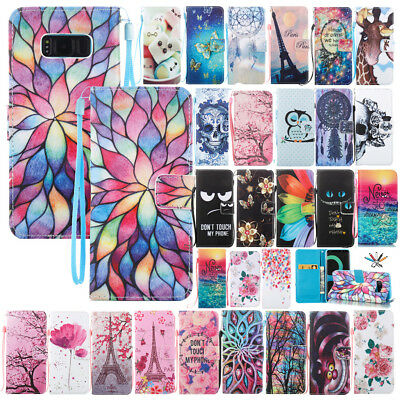 Magnetic Flip Leather Wallet Card Case Stand Cover For Samsung Galaxy S8/S8 Plus