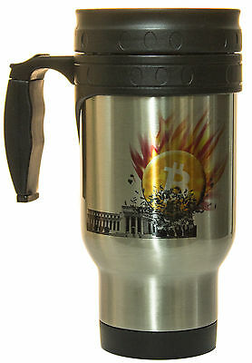 Bitcoin Smashes Federal Reserve 12oz. Hot/ Cold Travel Mug