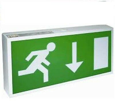 Led Exit Box Emergency Lighting Ip20 Maintained / Non Maintained Exit Sign
