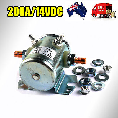 Solenoid Starter Continuous Duty Relay Switch 200Amp 12V/14V Dc Universal Marine