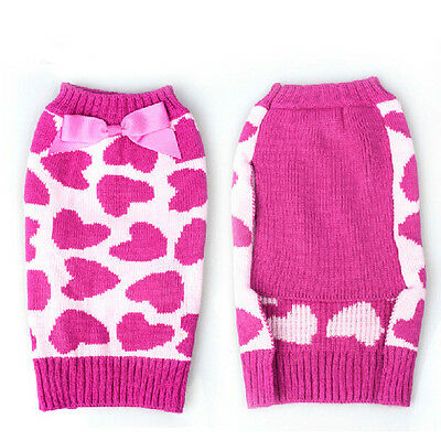 Cute Winter Pet Puppy Small Dog Cat Sweater Clothes Coat Apparel