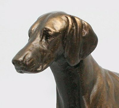 German Shorthair Pointer Standing - Small Cold Cast Bronze Dog Statue - Figurine