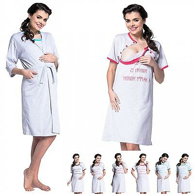 Zeta Ville - Women's Maternity Nursing Nightdress / Robe - MIX & MATCH - 474c