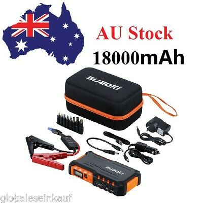 Suaoki 18000mAh 600A Car SOS Jump Starter Booster Power Bank Battery Charger AU
