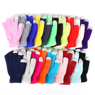 Men/Women Touch Screen Gloves For Smart Phone Tablet Warm Knit Winter Mitten