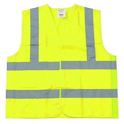 Yellow Polyester Fabric Safety Vest 6XL Class II Silver Reflective Tape