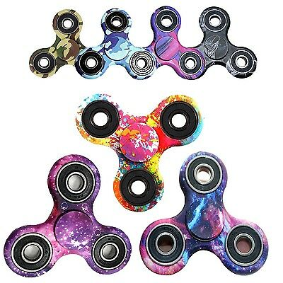 EDC Hand Spinner Anti Stress Toys UK Camouflage Tri-Spinner Fidget Toy 3D Fidget