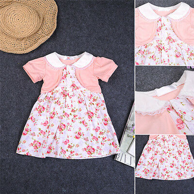 New Baby Kids Girls Children Dresses Casual Princess Party Dress