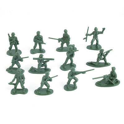 100pcs/Pack Military Plastic Toy Soldiers Army Men Figures 12 Poses Gift B1