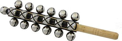 Percussion Workshop Professional Sleigh Bells with 25 Bells on Wooden Handle