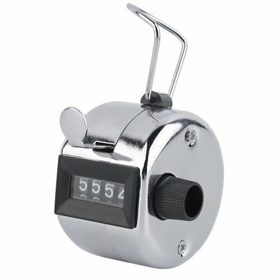 Hand Held Tally Counter Manual Counting 4 Digit Number Golf Clicker B1