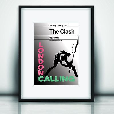 The Clash's Last Concert II Poster Print Olivia Valentine© 2017 NEW Exclusive