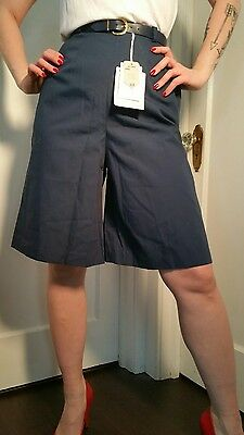 Vintage 40's 50's shorts knee length navy blue new pant skirt high waisted dead