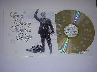 Elvis On A Snowy Winter's Night 2001 Epe Fan Club President Cd & Insert<>Promo