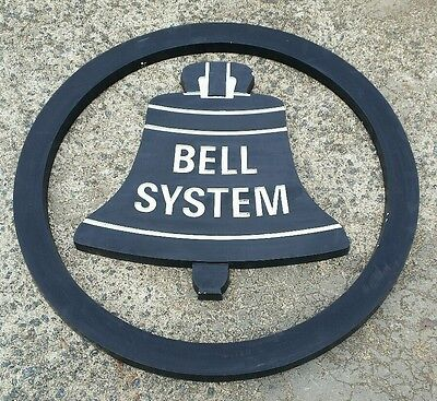 """Bell System Aluminum Building Sign-Vintage-Telephone-24""""-Western Electric-Ring"""
