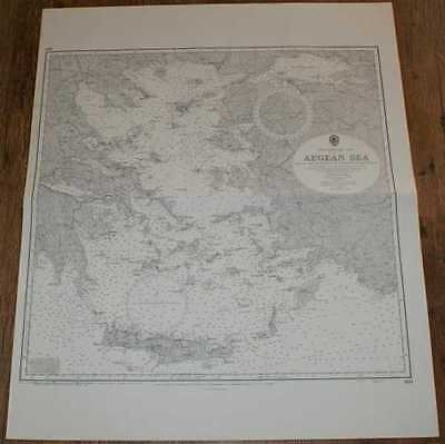 Nautical Chart No. 180 Mediterranean Sea - Aegean Sea 1969