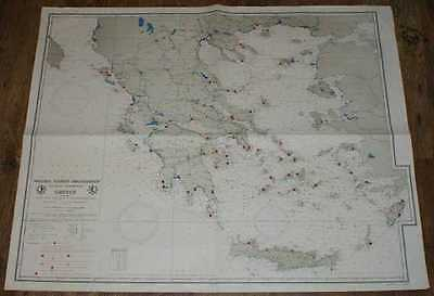 Nautical Chart of Greece, coasts as Chart No. 11 of Hellenic Hydrographic Office