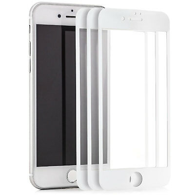 "3x 3D Displayschutz für iPhone 7 4,7"" Panzerglas komplett Full Cover Folie 9H"