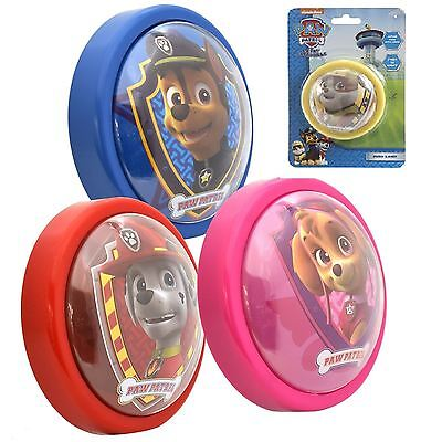 Paw Patrol Night Light Kids Bedroom Push Button Lamp Chase Rubble Sky Marshall