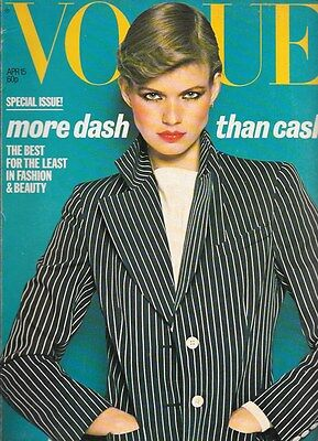 1977 April VOGUE vintage fashion & beauty 40th birthday James Bond Slick Willies