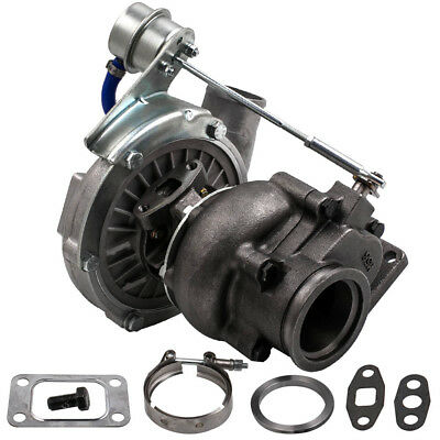 T3 T4 T04E upgraded Turbo Universal Flange A/R .63 V-band Oil Turbocharger TCB