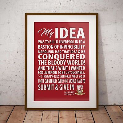 Bill Shankly Inspirational Speech Liverpool A4 or A3 Print Poster Wall Art
