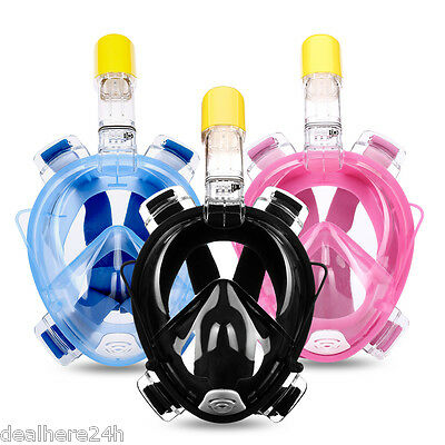 For Gopro Easybreath Diving Snorkeling Mask Full Face Scuba Snorkel S/m  L/xl Uk