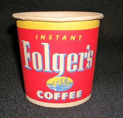 Instant Folgers Coffee Sample Tasting Paper Cup