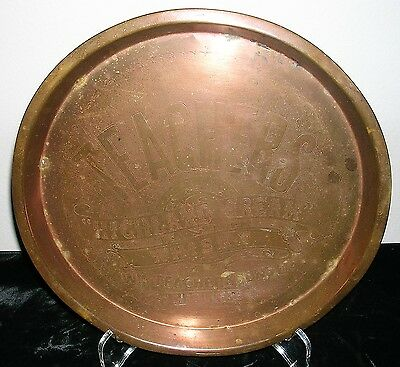 Vintage Teachers Highland Cream Whisky Copper Bar Tray