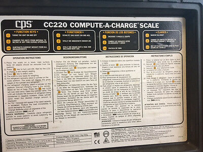 Cps Cc220 Compute-A-Charge Scale