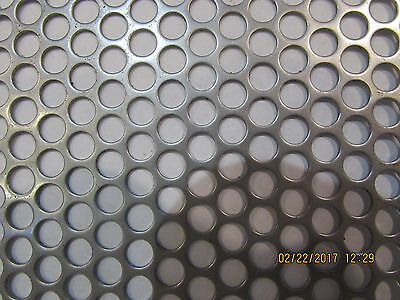 """1/4"""" Holes 20 Gauge 304 Stainless Steel Perforated Sheet-- 4"""" X 18"""""""
