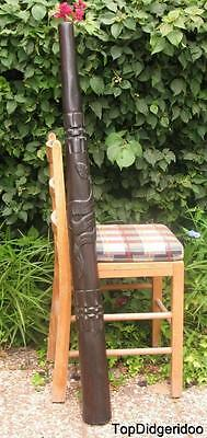 """*WITH A TINY CRACK* 47"""" Teak DIDGERIDOO SNAKE Artwork Hand-Carved FREE SHIPPING"""