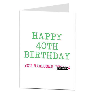 Funny 40th 40 Today Birthday Card For Husband Hubby Boyfriend BF Him Men