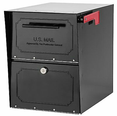 Large Locking Security Post Mount Mailbox Slot Steel Weather Tight Big Mail Box
