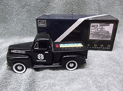 Liberty 1948 Ford F-1 Pick Up New Holland 1997 1/25 Scale Coin Bank