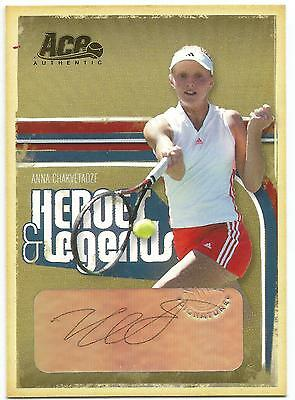 2006 Ace Anna Chakvetadze Auto Rc Gold @ 17/25 Autograph Heroes And Legends
