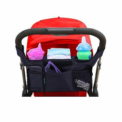 Luxury Stroller Organizer By Lebogner Stroller Accessories Universal Black Ba...